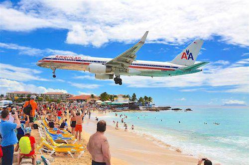 Die Flugzeuge sind eine Touristenattraktion. Foto: Facebook/SXM