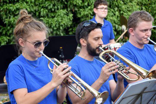 Die Jugendmusik Götzis-Klaus hatte einen gelungenen Gastauftritt beim 6. Sulner Sommerrausch. Foto: loa