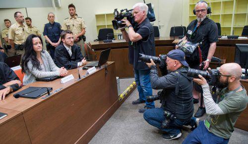Die mutmaßliche Rechtsterroristin Zschäpe im Gerichtssaal. Ihr droht lebenslange Haft. Foto: AFP