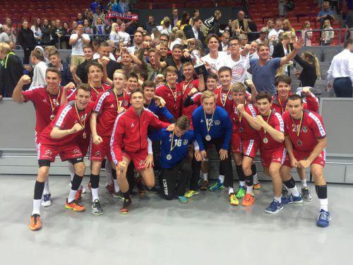 Die Nachwuchs-Handballer konnten sich über einen sensationellen zweiten Platz freuen.Foto: handball austria
