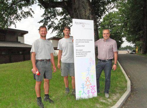 Die Schautafeln wurden in Sulzberg aufgestellt.Foto: E. Steurer