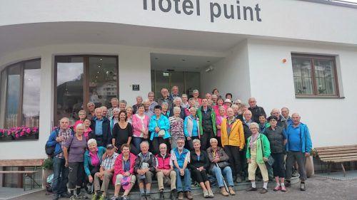 Die Wandergruppe des Kneipp Aktiv Club Vorderland. Kneipp Aktiv