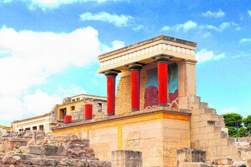 Die wichtigste Ausgrabungsstätte der Insel: der Palast von Knossós.