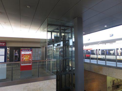 Dieser Lift am Dornbirner Bahnhof sorgte gleich zweimal hintereinander für Pannen. Foto: vN
