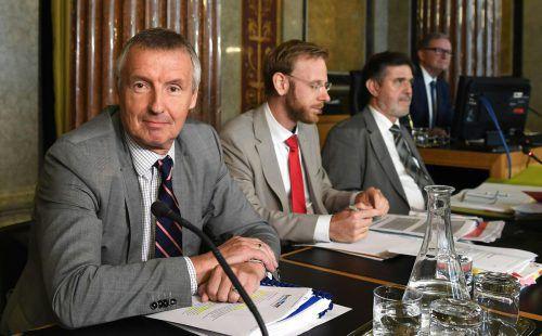 Ex-Minister Martin Bartenstein sagte imU-Ausschuss aus.APA
