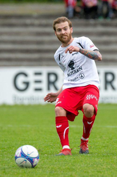 Ex-Profi Philipp Hörmann wechselt von Dornbirn nach Bizau und wird nun in der Landesliga auf Torjagd gehen.Foto: stiplovsek