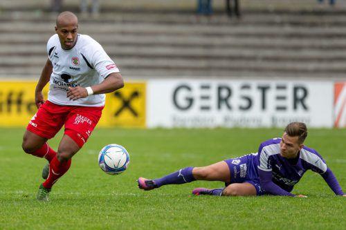 Der 24. Saisontreffer von Dornbirn-Goalgetter Ygor Carvalho Vieira reichte gegen den SV Wörgl nicht zum Sieg. stiplovsek