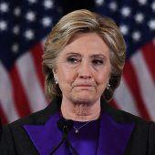 Clinton arbeitet Wahlniederlage in Buch auf