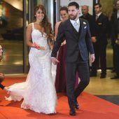 Lionel Messi gab seiner Antonela den Kuss der Küsse