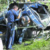 Pilot überstand Absturz mit Transporthubschrauber unverletzt