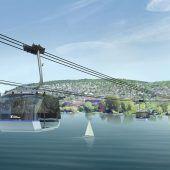 Zum 150-Jahr-Jubiläum der ZKB soll eine Seilbahn Zürichs Seeufer verbinden