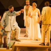 Moses auf der Festspielbühne