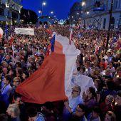 Zehntausende Polen protestieren gegen Justizreform
