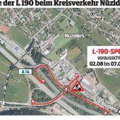 Beim Kreisverkehr in Nüziders geht es Anfang August baulich richtig rund