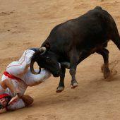 Zehn Verletzte bei der Stierhatz in Pamplona