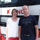 Brandneue Trucks wurden Spediteuren vorgestellt