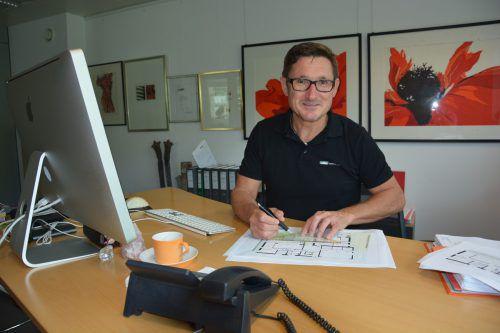 Gerhard Müller (Müller Bau) wurde im vergangenen Jahr ausgezeichnet. Hofer