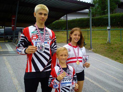 Gold für Frederick Ender, Luca Fercher und Hannah Muther.