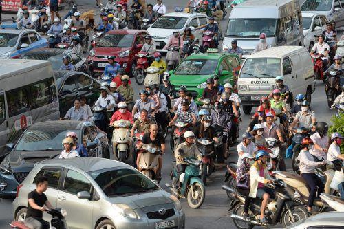 Hanoi zählt sieben Millionen Einwohner und fünf Millionen Motorräder sowie eine halbe Million Autos.Foto: APA