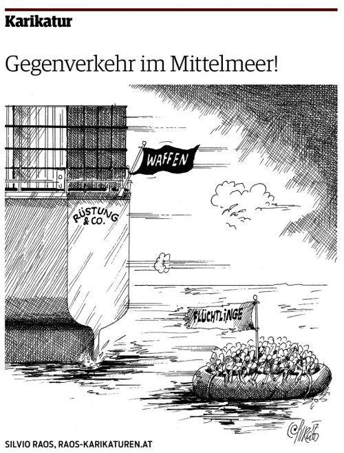 Karikatur von Silvio Raos in den VN vom 5. Juli 2017.
