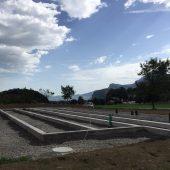 Fundament für Kindergarten-Container fertig