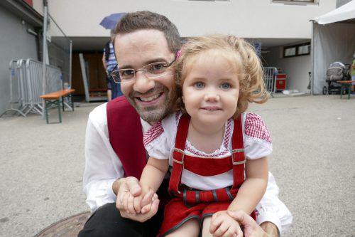 Lukas war mit seiner Tochter Marie bei der großen Feier dabei.
