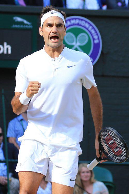 Mit beinahe 36 Jahren ist der Schweizer Roger Federer der älteste Finalist in Wimbledon seit 1974.Foto: AFP