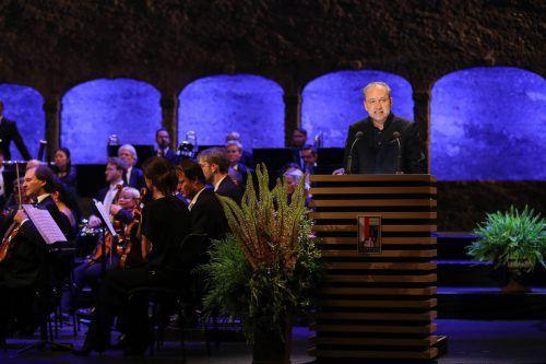 Nach den ersten Premieren fand die offizielle Eröffnung der Salzburger Festspiele gestern in der Felsenreitschule statt.  Foto:APA