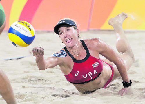 Olympiasiegerin Kerri Walsh Jennings muss wegen einer Verletzung für die WM absagen. Partnerin Nicole Branagh spielt mit Emily Day.Foto: ap