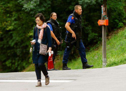 Polizeieinheiten fahndeten am Dienstag nach dem Mann. Am Abend konnten sie ihn festnehmen.Foto: Reuters