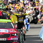 Primoz Roglic gewann die erste Alpen-Etappe