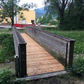 HTL-Schüler sanierten Steg über Ratzbach
