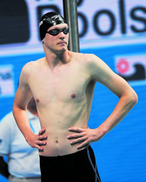 Schwimmer Felix Auböck zeigte sich stark verbessert.Foto: gepa