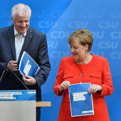 CDU und CSU verabschieden Wahlprogramm