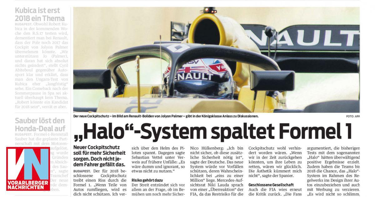 """Halo""""-System spaltet Formel 1 - Vorarlberger Nachrichten   VN AT"""