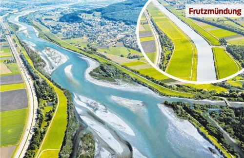 So könnte die Uferlandschaft des Rheins bei Koblach in einigen Jahren aussehen. Um eine Lösung wird gerungen.Rhesi