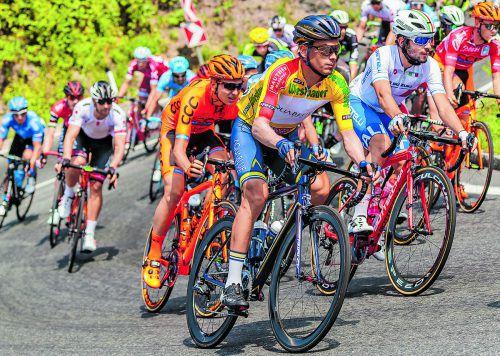 Stefan Denifl verlor auf der Königsetappe der Österreich-Radrundfahrt nur zwei Minuten auf Sieger Ben Connor, liegt in der Gesamtwertung vor dem letzten Teilstück mit 37 Sekunden in Führung. Foto: apa