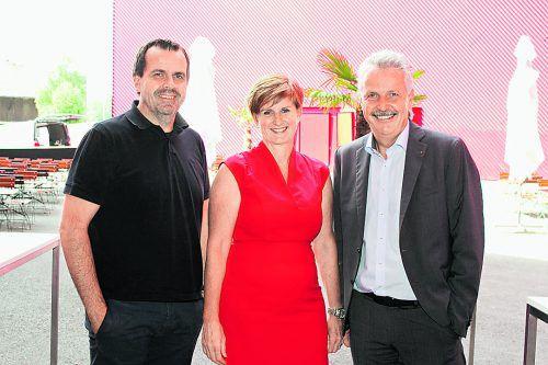 Stefan Marte (l.), Sabine Tichy-Treimel und Otto-G. Mäser.