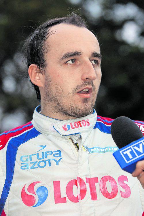 Testet fleißig für ein Comeback: Robert Kubica.Foto: gepa