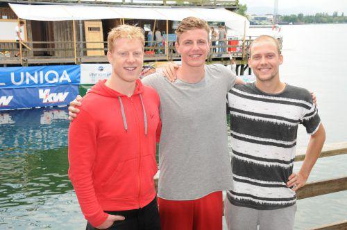 Tobias Grabher, Tobias Schlappack und Philipp Höller (v. l.) freuen sich auf das Heimturnier.Foto: akp