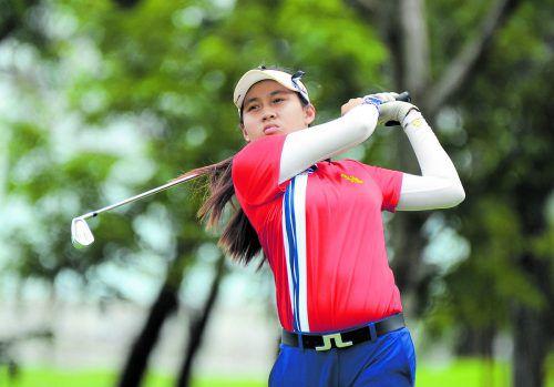 Turniersiegerin mit nur 14 Jahren: Atthaya Thitikul.Foto: ap
