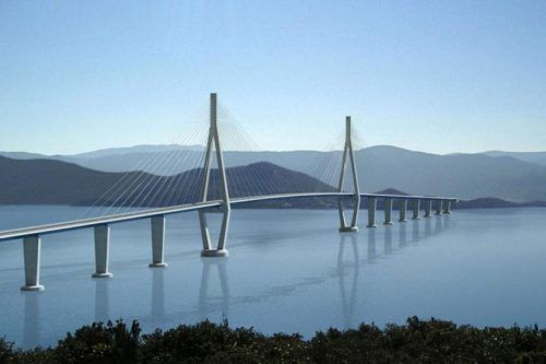 Um 420 Millionen Euro sollen die 2,4 Kilometer lange Pelješac-Brücke sowie 20 Kilometer Zu- und Abfahrten gebaut werden.