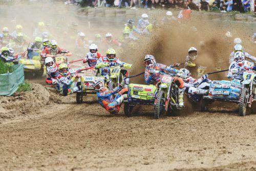 Viel Action erwartet die Besucher der Seitenwagen-Weltmeisterschaft in Möggers.Foto: privat