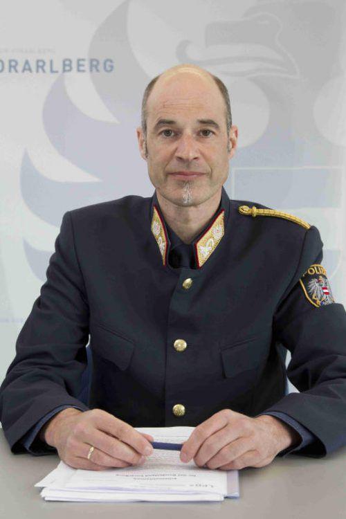 Vizelandespolizeidirektor Walter Filzmaier. Foto: VN/Paulitsch