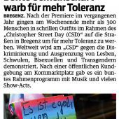 Regenbogenparade in Bregenz ermutigt