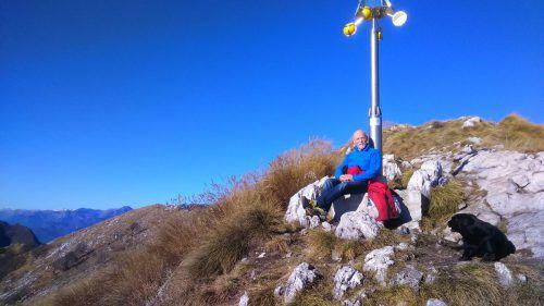 Vom Monte Denervo hat Hugo Habicher eine schöne Aussicht.