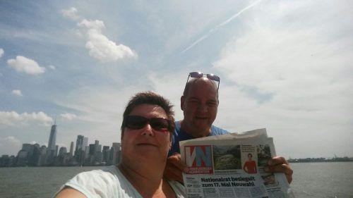 Von New York geht es für Daniela und Heinz Depaoli aus Hard mit Bus und Zug weiter bis nach Kanada.