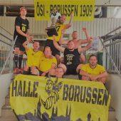 Ein gelb-schwarzes Stadion