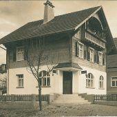 vorarlberg einst und jetzt. Kreuzung Bahnhofstraße/Hauptmann-Frick-Straße