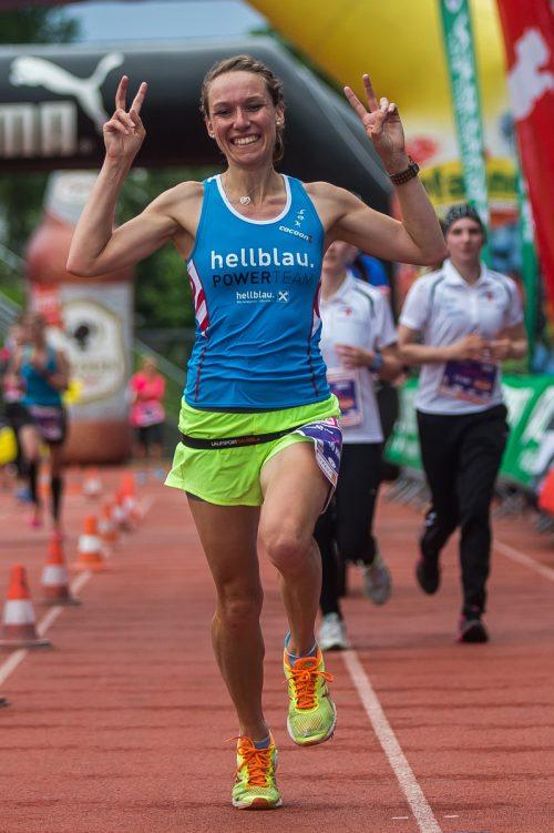 Denise Neufert war schnellste Dame beim Wälderlauf 2018. Steurer
